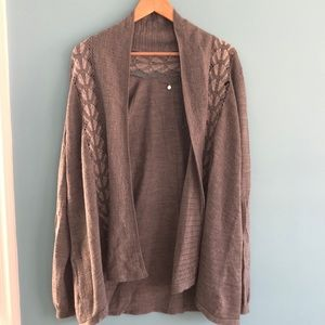 Knitted and Knotted Anthro open front Cardigan